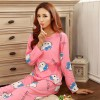 Piyama Wanita Karakter Kartun Size L - Pink