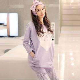 Piyama Wanita Long Sleeve Size M - Purple - 2