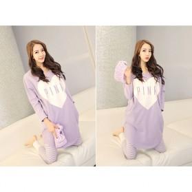 Piyama Wanita Long Sleeve Size M - Purple - 3