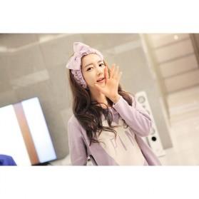 Piyama Wanita Long Sleeve Size M - Purple - 4
