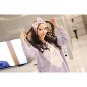 Piyama Wanita Long Sleeve Size M - Purple - 5