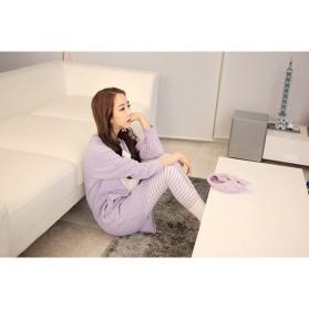 Piyama Wanita Long Sleeve Size M - Purple - 6