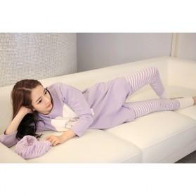Piyama Wanita Long Sleeve Size M - Purple - 7