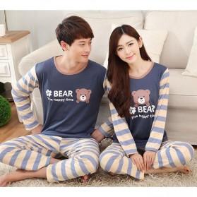 Piyama Bear Couple Pria Size L - Blue - 6