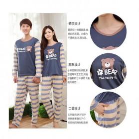 Piyama Bear Couple Wanita Size M - Blue - 3