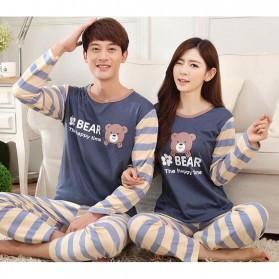 Piyama Bear Couple Wanita Size M - Blue - 7