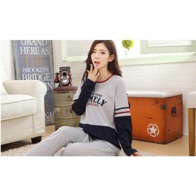 Piyama Timely Couple Wanita Size M - Gray/Blue - 5