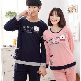 Piyama Cute Bear Couple Wanita Size L - Pink