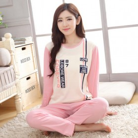Piyama Forever Couple Wanita Size L - Pink with White Side