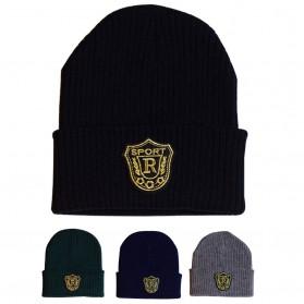 SPORT R Topi Kupluk Wol Beanie Hat - Black - 2