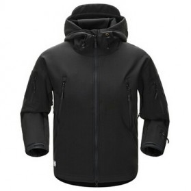 FREE SOLDIER Jaket Water Resistant Windcoat Pria Size M - Black