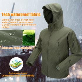 FREE SOLDIER Jaket Water Resistant Windcoat Pria Size M - Black - 3