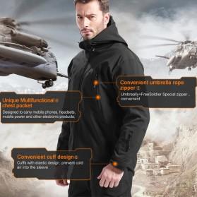 FREE SOLDIER Jaket Water Resistant Windcoat Pria Size M - Black - 4