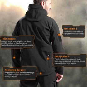 FREE SOLDIER Jaket Water Resistant Windcoat Pria Size M - Black - 5