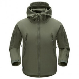 FREE SOLDIER Jaket Water Resistant Windcoat Pria Size M - Green