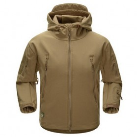 FREE SOLDIER Jaket Water Resistant Windcoat Pria Size M - Khaki