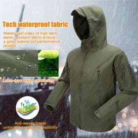 FREE SOLDIER Jaket Water Resistant Windcoat Pria Size L - Green - 3