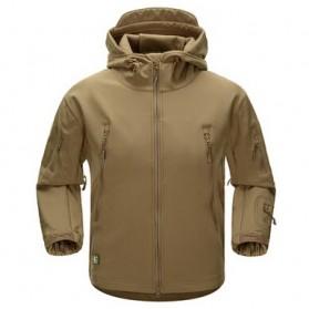 FREE SOLDIER Jaket Water Resistant Windcoat Pria Size L - Khaki