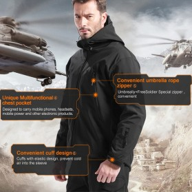 FREE SOLDIER Jaket Water Resistant Windcoat Pria Size L - Khaki - 4