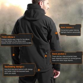 FREE SOLDIER Jaket Water Resistant Windcoat Pria Size L - Khaki - 5