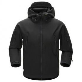 FREE SOLDIER Jaket Water Resistant Windcoat Size S - Black