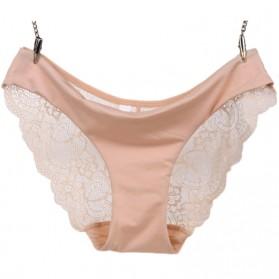 Celana Dalam Wanita Sexy Lace Size S - Cream