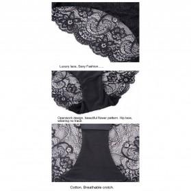 Celana Dalam Wanita Sexy Lace Size S - Cream - 5