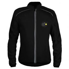 SALETU Jaket Gunung Rain Windcoat Windbreaker Size XL - Black