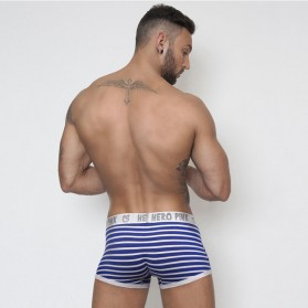 Striped Celana Dalam Boxer Pria Size L - Navy Blue - 4