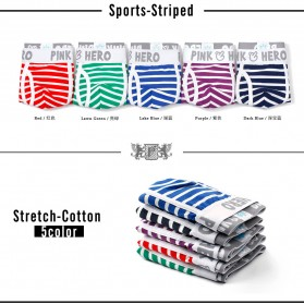 Striped Celana Dalam Boxer Pria Size XL - Navy Blue - 5