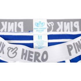 Striped Celana Dalam Boxer Pria Size XL - Navy Blue - 7