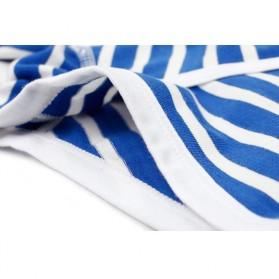 Striped Celana Dalam Boxer Pria Size XL - Navy Blue - 8