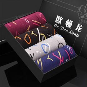Celana Dalam Boxer Pria Model Letter 2 4PCS Size L - Multi-Color
