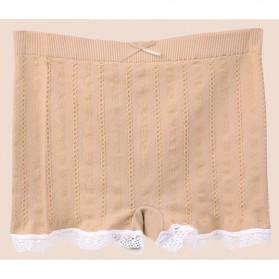 Celana Dalam Wanita Long Waist All Size - Cream