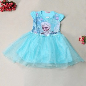 Dress Anak Disney Frozen Size 6T - Blue