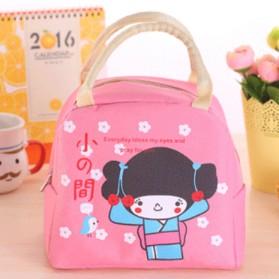 Tas Bekal Lunch Bag Cute Girl - Pink