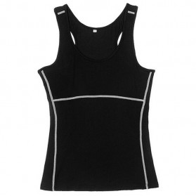 Baju Training Olahraga Gym Wanita Quick Dry Size L - Black