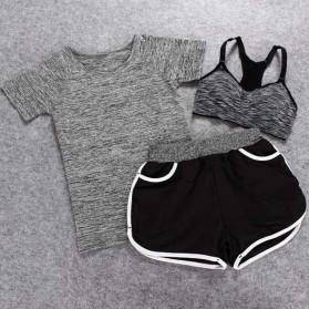 Set Baju Celana Bra Olahraga Wanita Size L - Gray