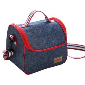 Tas Kotak Makan Insulated Thermal Lunch Bag Tote - Blue