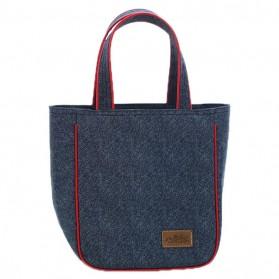 Tas Kotak Makan Jinjing Insulated Thermal Lunch Bag - Blue