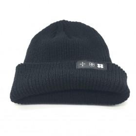 Kupluk Wool Knitted Winter Beanie Hat - Black - 2