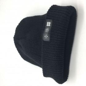 Kupluk Wool Knitted Winter Beanie Hat - Black - 3