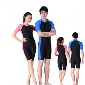 Baju Renang Wanita Diving Style Swimsuit Size L - Pink - 1