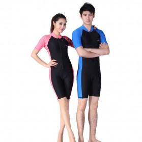 Baju Renang Wanita Diving Style Swimsuit Size L - Pink - 2