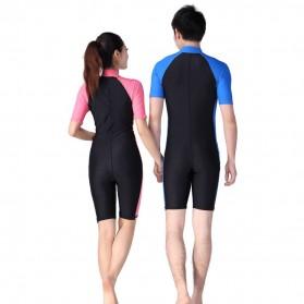 Baju Renang Wanita Diving Style Swimsuit Size L - Pink - 3