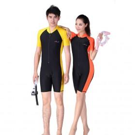 Baju Renang Wanita Diving Style Swimsuit Size L - Pink - 4