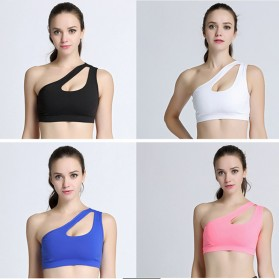 Sport Bra Wanita One Shoulder Size M - Black - 4