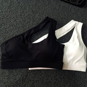 Sport Bra Wanita One Shoulder Size L - Black - 2