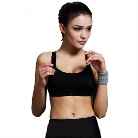 Push Up Sport Bra Wanita Breathable Size M - Black