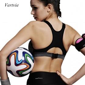 Push Up Sport Bra Wanita Breathable Size M - Black - 2